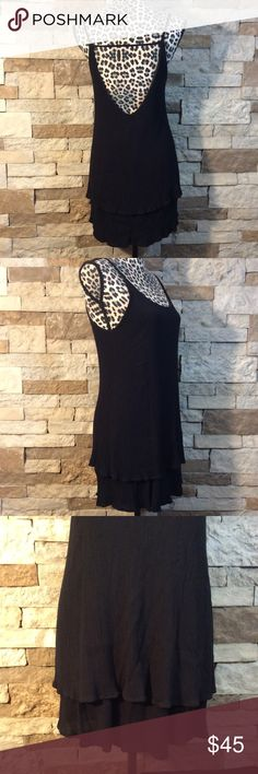 AUDREY 3+1 Open Back Black Dress Great condition, no holes or stains. Only worn one time. Super cute dress, can be worn formally or casually, has an open back and is decorated with ruffles at the bottom. Size Medium. Audrey 3+1 Dresses Mini