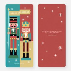 Merry Nutcrackers Christmas Cards from Paper Culture