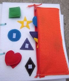 I love the idea of using zippered pouches to store quiet book manipulatives on individual pages.