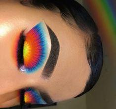 baddie makeup – Hair and beauty tips, tricks and tutorials Makeup Eye Looks, Eye Makeup Art, Colorful Eye Makeup, Crazy Makeup, Cute Makeup, Skin Makeup, Eyeshadow Makeup, Rainbow Eye Makeup, Blonde Makeup