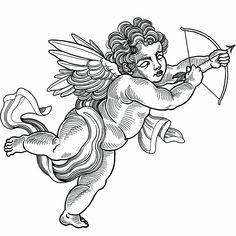 Torso Tattoos, Belly Tattoos, Best Sleeve Tattoos, Cherub Tattoo Designs, Speakeasy Tattoo, Cupid Tattoo, Family Tattoo Designs, Religious Tattoos, Ange Demon
