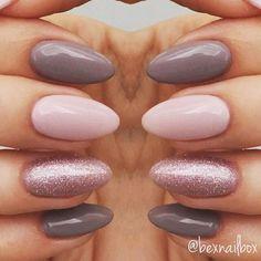 "10 Likes, 2 Comments - Rebecca (@bexnailbox) on Instagram: ""Gel Nails... Polish - Bluesky Polishes 63921 QXG210 'Lace' 63903 'Fairy Dust' #nails #gelnails…"""