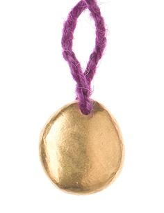 Pippa Small - Ethical Trade Bolivian gold nugget necklace in purple alpaca @ WHITE bIRD Jewellery