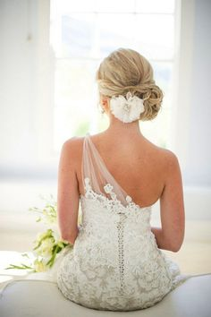 Jolie coiffure classique pour mariage