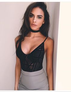 More Mesh 🙌🏽 'Bowery' sheer bodysuit + 'Same Old Love' mini / Chic Outfits, Summer Outfits, Girl Outfits, Fashion Outfits, Fasion, Fashion Models, Sophia Miacova, Sheer Bodysuit, Date Night Dresses