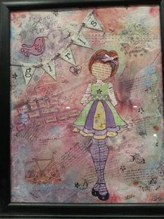 Mixed Media Painted Artistry-- Girls