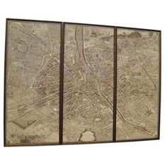 Map of Paris | See more antique and modern Prints at https://www.1stdibs.com/furniture/wall-decorations/prints