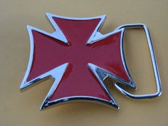 RELIGIOUS RED CROSS IRON MALTESE CRUZADER TEMPLAR TUDOR ORDERS BELT BUCKLE BUCKLES