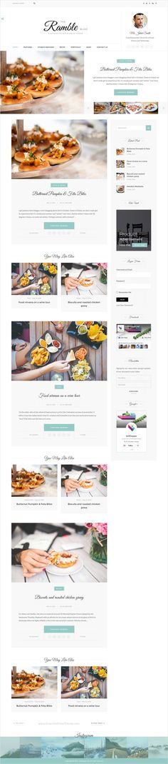 Ramble is beautifully design responsive #WordPress theme for #food #recipes blog, magazine and shopping website with 100+ blog demo, 50+ magazine demo, shop and portfolio homepage download now➩ https://themeforest.net/item/ramble-multipurpose-blog-magazine-and-woocommerce-wordpress-theme/16795354?ref=Datasata