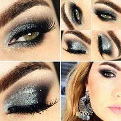 Maquillage gris argent