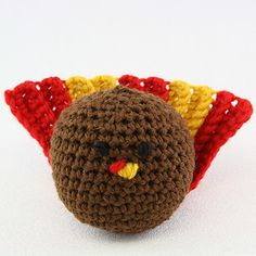 Crocheted Turkey by Sara Delaney.