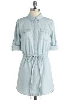 Geocache My Drift Top, #ModCloth - would leave the top buttons unbuttoned with a tank underneath - cute!