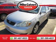 2005 Toyota Corolla LE 119k miles $6,500 119368 miles 281-407-9523  #Toyota #Corolla #used #cars #MikeCalvertToyota #Houston #TX #tapcars