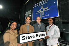 Our friend and former colleague, Steve Evans - handed his sign by Jimmy Carr, with mayor and mayoress of Wolverhampton, Milkinder and Jasbir Jaspal #WallOfFame #SteveEvans www.Twitter.com/SteveEvans51