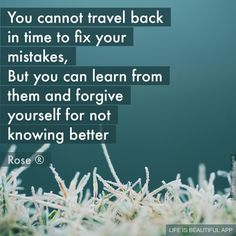 Fix your mistakes