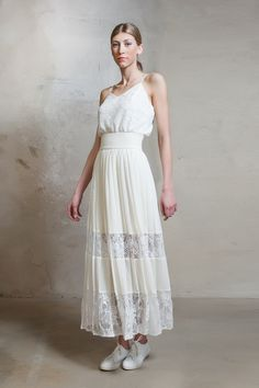 Lace and georgette pleat dress | Lilli Jahilo
