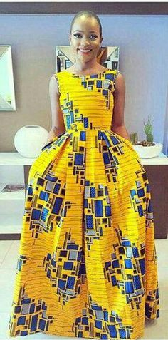 Yellow Block floor length butterfly dress, prom dress, African dresses for wedding, African dresses for prom. This effortlessly beautiful dress will suit all body shapes and sizes. African Fashion Ankara, African Inspired Fashion, African Print Fashion, Ghanaian Fashion, Nigerian Fashion, African Prints, African Fashion Designers, African Safari, African Attire
