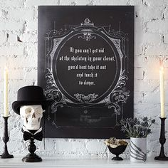 If you can't get rid of the skeleton in your closet, you'd best take it out and teach it to dance. (Free Printable)