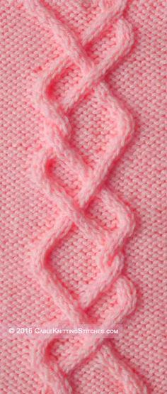 Cable Knitting Stitches » Cable panel 8 » Double-Wrapped Braid