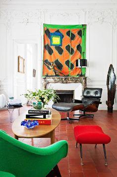 Shop the Room: A European Salon With Midcentury Flair via @MyDomaine