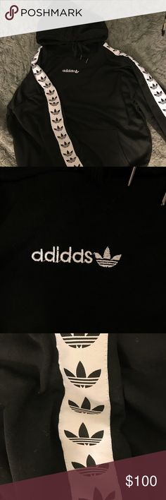 Adidas TNT tape hoodie black Nwt Price firm. adidas Sweaters
