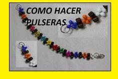 LA MANERA MAS FACIL DE HACER PULSERAS// perlas de colores