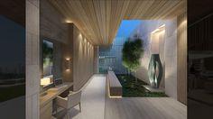 AE Emirates Hills: >A villa on the Emirates Hills Golf Estate overlooking a series of beautiful water features towards Dubai Marina. Interior Exterior, Modern Interior, Interior Styling, Exterior Design, Modern Decor, Interior Decorating, Architecture Courtyard, Light Architecture, Architecture Details