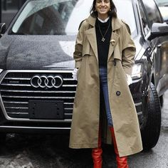 These boots were made for walking and this car was made for riding but one works a whole lot better in three feet of slush. @audi #nyfw #MRPartner