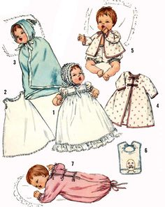Vintage Doll Clothes PATTERN 4191 for 12 inch by BlondiesSpot, $9.99