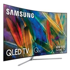 "#Smart #TV #Samsung QE65Q7C 65"" #Ultra #HD #4K #QLED USB x 3 #QHDR 1500 #Gekrümmt #curved #sale Tv Samsung 4k, Smart Tv Samsung, Tv 32 Pouces, Wi Fi, Home Theater Tv, Curved Tvs, Ultra Hd 4k, Usb, Tech Gadgets"