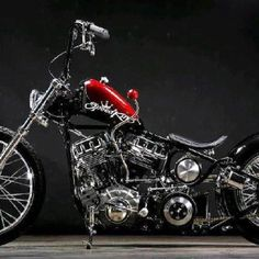 Beautiful Scooter, With Suicide Shift. Bobber Bikes, Bobber Motorcycle, Cool Motorcycles, Vintage Motorcycles, Harley Bobber, Harley Bikes, Harley Davidson Motorcycles, Custom Bobber, Custom Harleys