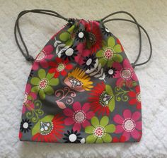 Personal Drawstring Tote Bag by SimplyValarie on Etsy, $12.50