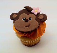 Fondant monkey girl cupcake decorations. $24.00, via Etsy.