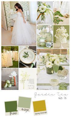 Garden Tea inspiration board | Bliss Wedding Blog and Magazine
