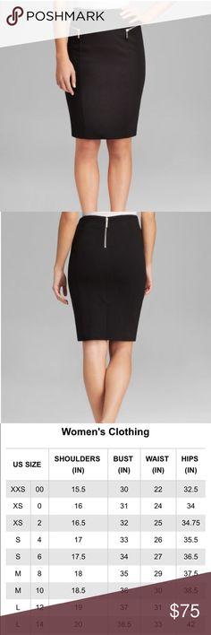 Michael Kors skirt Classy & sophisticated black skirt. A staple for any closet!                                                                        Available sizes & colors: Size 8 =black, Size 10=black, Size 4= navy blue Michael Kors Skirts Pencil