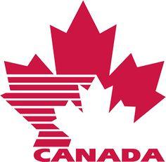Logo of Canada National Ice Hockey Team Canada 150 Logo, Cricut Canada, Maple Leaf Logo, Canada Tattoo, Canada Day Party, Canada Maple Leaf, Canadian Things, Airline Logo, Hockey Logos