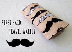 Travel First Aid Kit Moustaches Portable First aid wallet