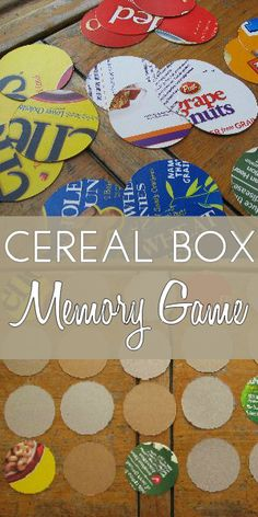 Cereal Box Cut-Out Crafts Matching Game for Preschoolers
