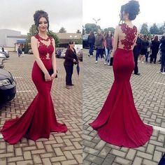 Sexy Mermaid Burgundy Prom Dress,Charming Sleeveless Prom Gowns,Evening