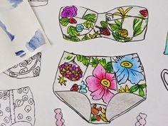 Biquinis : Livro de colorir para adulto - Paris Secret