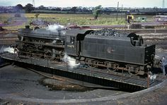 engine on the turntable