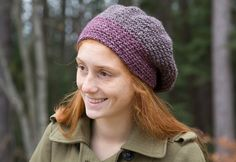 Classic Elite Yarns Majestic Tweed Slouch Hat (Free) in Free Crochet Patterns at Webs Crochet Adult Hat, Crochet Beanie, Knit Or Crochet, Free Crochet, Knitted Hats, Crochet Wigs, Crochet Dresses, Knitting Patterns Free, Crochet Patterns