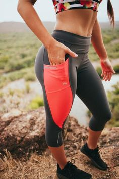 Pocket Capris - Coral                      The perfect pants for any workout. Two side pockets and a pocket on the back. Get them at www.senitaathletics.com for just $36!