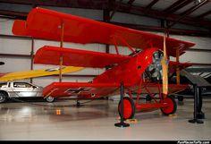 Aviation - Aircraft Photo - Fokker DR.1 at Cavanaugh Flight Museum, Addison, Texas http://www.FunPlacesToFly.com