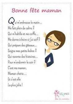 Petite comptine: bonne fête maman! French nursery rhyme for Mother's Day   pour la fête des mères