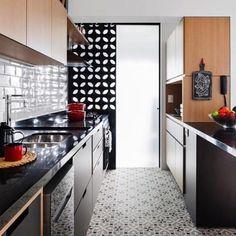 Decoração cozinha   cobogós e ladrilho - moderna e cheia de estilo {Projeto Marcela Madureira}