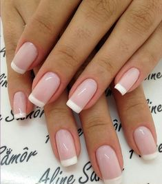 Wedding Nails-A Guide To The Perfect Manicure – NaiLovely French Acrylic Nails, French Tip Nails, Cute Acrylic Nails, Cute Nails, My Nails, French Tips, Bride Nails, Wedding Nails, Fabulous Nails