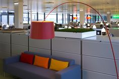 Different Tone Cushions on Sofa #offices