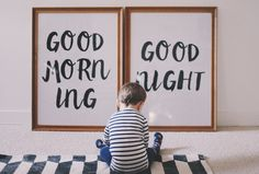 Good Morning + Good Night — Bethany Menzel free printable