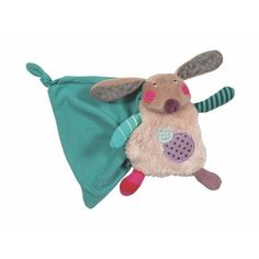 Rabbit baby comforter by Moulin Roty. Multiple textures and colours.Material: polyester filling Care: Suitable from birth Dou Dou, Rabbit Baby, Baby Comforter, Green Cream, Le Moulin, Baby Shop, Comforters, Colours, Texture
